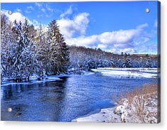 Acrylic Print featuring the photograph Snowy Banks Of The Moose River by David Patterson