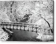 Snowy Bridge On Mill Creek Acrylic Print