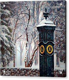 Snowy Keeneland Acrylic Print