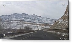 Snowy Mountain Road Acrylic Print