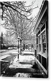 Snowy Northampton, Ma, Part 1 Acrylic Print by JMerrickMedia