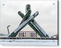 Snowy Olympic Cauldron Acrylic Print