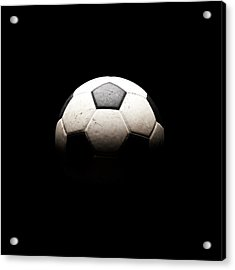 Soccer Ball In Shadows Acrylic Print