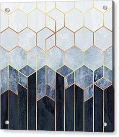 Soft Blue Hexagons Acrylic Print