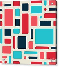 Soft Geometric Pattern In Retro Acrylic Print