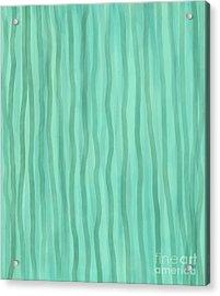 Soft Green Lines Acrylic Print