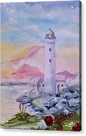 Soft Lighthouse Acrylic Print