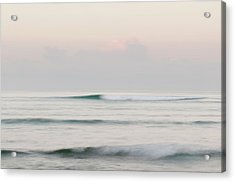 Soft Waves Breaking Offshore Acrylic Print