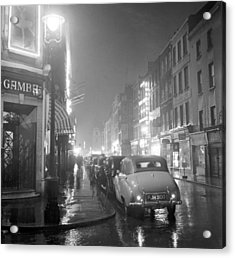 Soho Night Acrylic Print by Peter Purdy