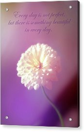 Something Beautiful In Every Day Acrylic Print