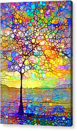 Sometimes We All Need A Little Colour Acrylic Print