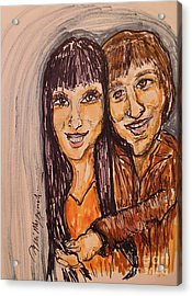 Sonny And Cher I Got You Babe Acrylic Print