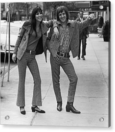 Sonny And Cher Acrylic Print