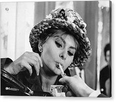 Sophia Smoking Acrylic Print
