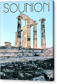 Sounion, In Love With The Med Acrylic Print