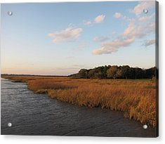 South Carolina Marsh In The Afternoon Acrylic Print