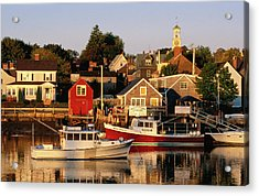 South End, Harbor And Houses Acrylic Print
