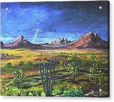 Acrylic Print featuring the painting Southern Arizona Grandeur  by Chance Kafka