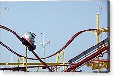 Southport.  The Fairground. Crash Test Ride. Acrylic Print