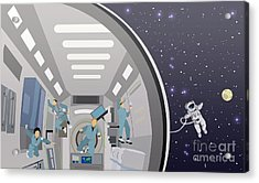 Space Mission Concept Vector Acrylic Print