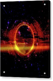 Space Ring Acrylic Print