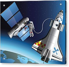 Space Service Acrylic Print