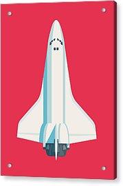 Space Shuttle Spacecraft - Crimson Acrylic Print
