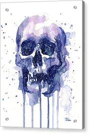 Space Skull Acrylic Print