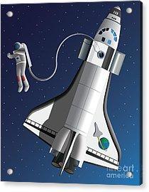Space Walk Acrylic Print