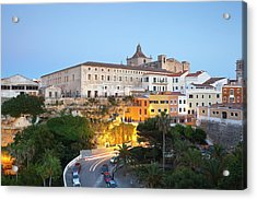 Spain, Menorca, Mahon, View Of Old Town Acrylic Print by Westend61