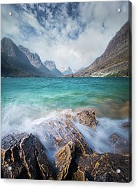 Splash / St. Mary Lake, Glacier National Park  Acrylic Print