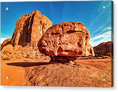 Acrylic Print featuring the photograph Spearhead Mesa's Balancing Rock by Andy Crawford