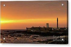 Acrylic Print featuring the photograph Spectacular Sunset On Saint Sebastian Castle Cadiz Spain by Pablo Avanzini