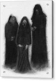 Specters Of The Darkness Beneath - Artwork Acrylic Print