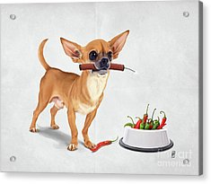Acrylic Print featuring the digital art Spicy Wordless by Rob Snow