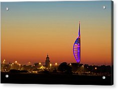 Spinnaker Tower And Portsmouth Cathedral Acrylic Print