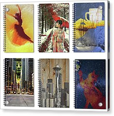 Spiral Notebooks Samples Acrylic Print