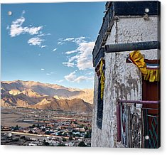 Acrylic Print featuring the photograph Spituk Gompa by Whitney Goodey