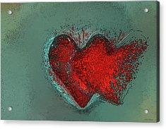 Splash Of Love Acrylic Print