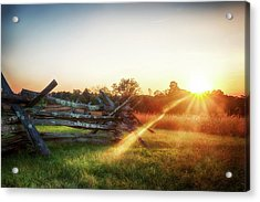 Split-rail Sunset Acrylic Print
