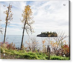 Acrylic Print featuring the photograph Split Rock In The Fall by Whitney Leigh Carlson