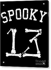 Spooky 13 Halloween Jersey Acrylic Print