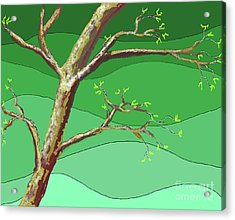 Spring Errupts In Green Acrylic Print