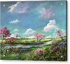Spring In The Garden Of Eden Acrylic Print