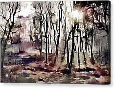 Acrylic Print featuring the painting Spring Morning Mist by Susan Maxwell Schmidt