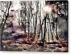 Spring Morning Mist Acrylic Print