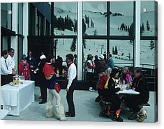 Squaw Valley Cable Car Deck Acrylic Print by Slim Aarons