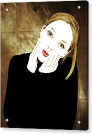 Squishyface Acrylic Print