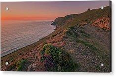 St Agnes Sunset Acrylic Print