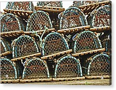 St. Andrews. Lobster Pots. Acrylic Print